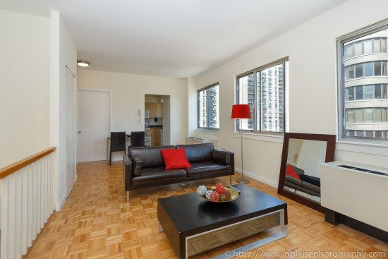 midtown east apartment photographer nyc 1 bedroom duplex with nice views
