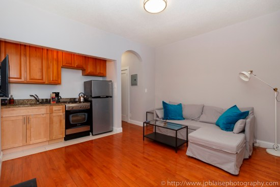 NY apartment photographer Lower East Side one bedroom real estate interior photography living room