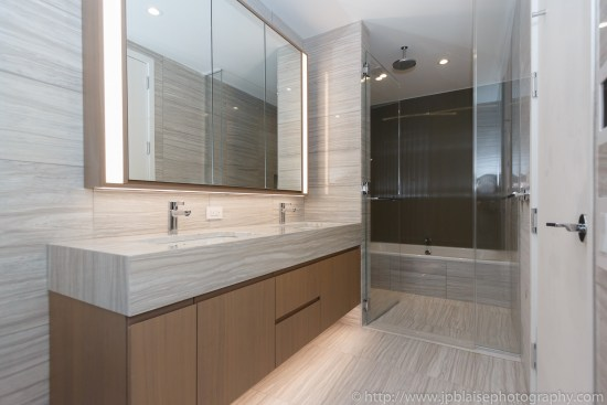 NY apartment photographer one bedroom battery park city manhattan new york city bathroom