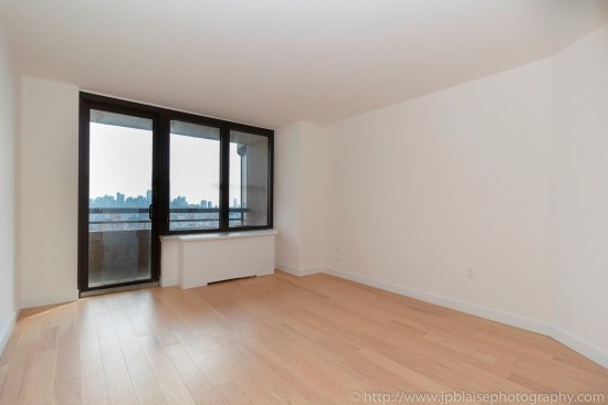 NY apartment photographer real estate interior architectural one bedroom Midtown East Manhattan New York bedroom