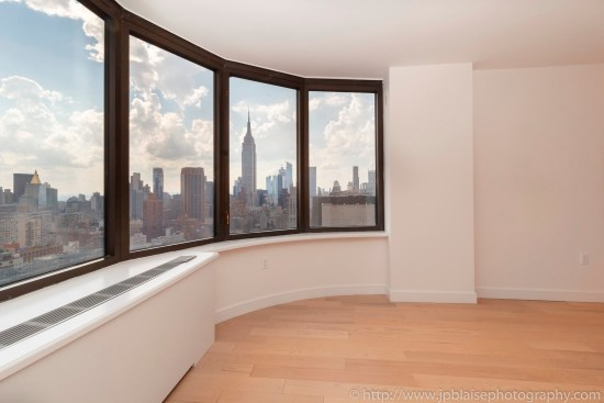 NY apartment photographer real estate interior architectural one bedroom Midtown East Manhattan New York empire
