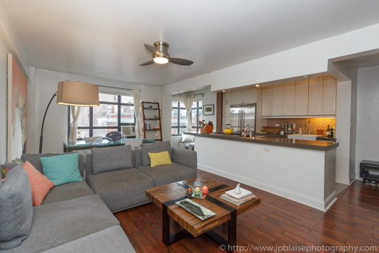 NYC apartment photographer one bedroom brooklyn heights