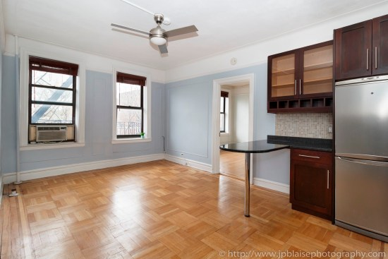 NYC apartment photographer one bedroom coop for sale west village ny real estate photography living room