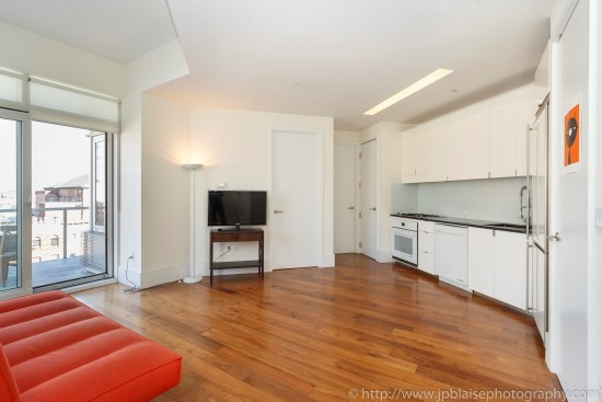 NYC apartment photographer one bedroom real estate interior long island city Queens kitchen