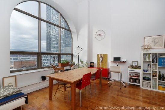 NYC apartment photographer real estate Long island city new york queens dining area