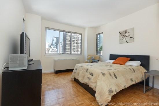 NYC apartment photographer two bedroom midtown bedroom