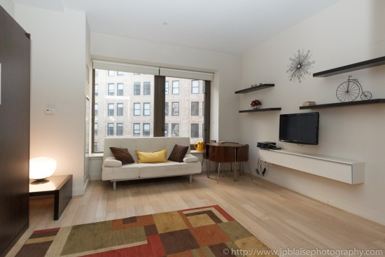 New York City apartment photographer studio financial district ny living room