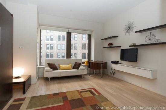 New York City apartment photographer studio financial district ny living room