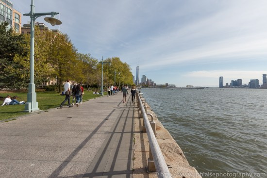 New York Photography One world trade center and Hudson river park