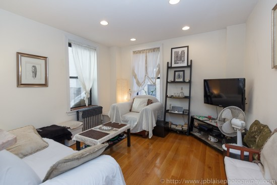New York city interior photoshoot : living room of one bedroom apartment in Hamilton Heights, Uptown New York