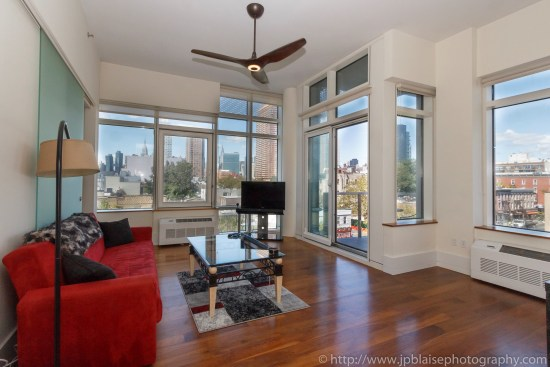 New york real estate photographer one bedroom apartment long island city queens living
