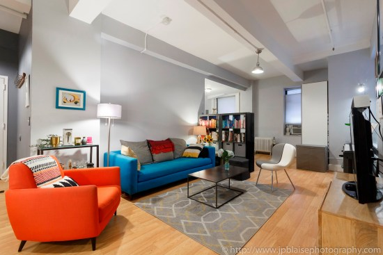 Nyc apartment photographer real estate new york studio loft brooklyn heights living room