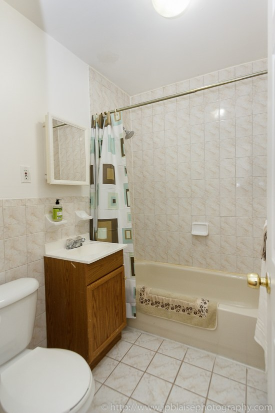 NY Apartment photographer work: Bathroom of Bedford-stuyvesant apartment, Brooklyn, NY