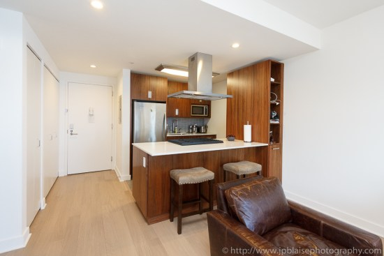 NY Apartment photographer work of the day: picture of the kitchen of a Chelsea one bedroom apartment