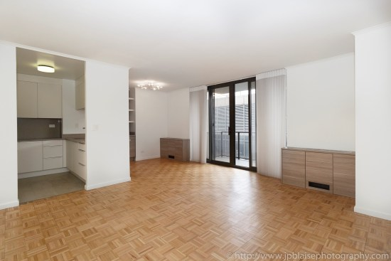 Real estate apartment photographer upper east side new york city one bedroom living room