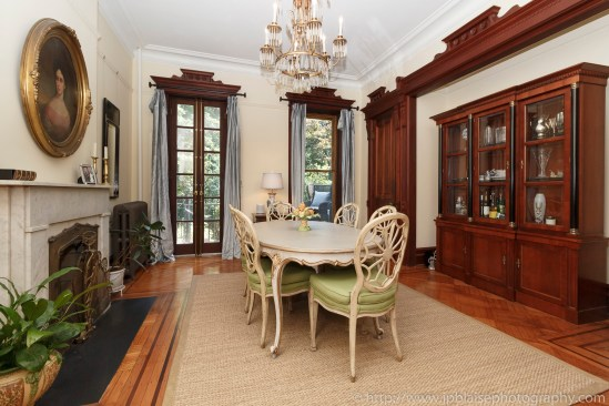 Real estate interior apartment photographer brooklyn park slope new york ny dining room