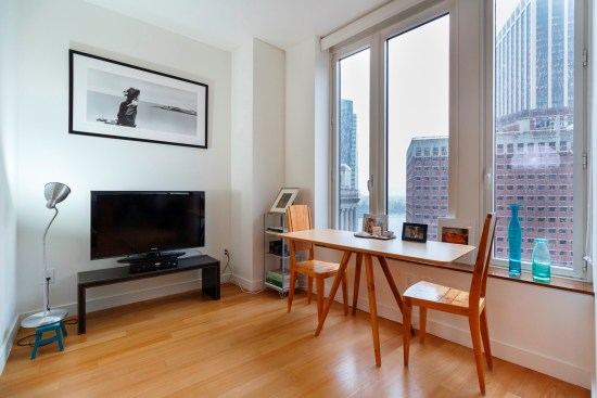 Real estate photographer apartment studio Wall street downtown new york city ny nyc dining area