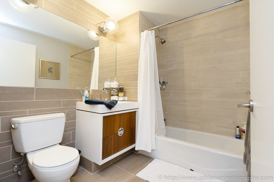 Interior photographer: picture of the bathroom of a Midtown west one bedroom apartment, Manhattan