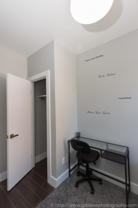 Real estate photographer work three bedroom apartment in flatbush brooklyn ny closet and desk