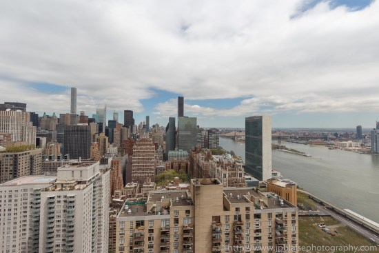 Real etate photographer work studio apartment in midtown east New York east river views