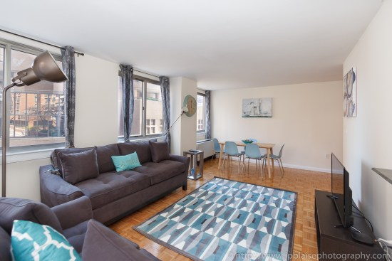 Recent NY apartment photographer adventure two bedroom two bathroom in Midtown East, Manhattan - picture of living room