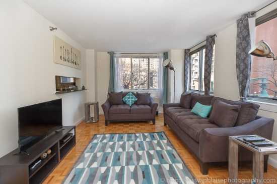 Recent NY interior photographer adventure two bedroom two bathroom in Midtown East, Manhattan - picture of living room