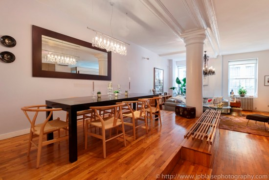 ny apartment photographer real estate interior new york tribeca new york city manhattan nyc dining table