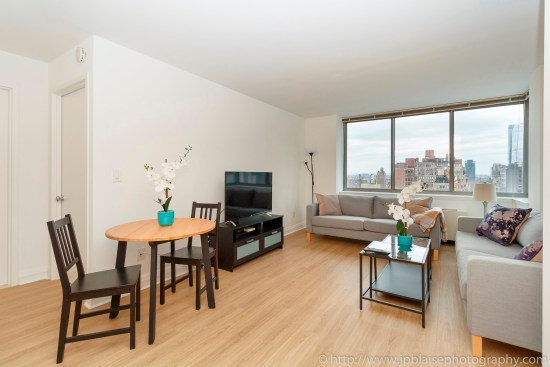 real estate photographer apartment interior midtown west photography living room