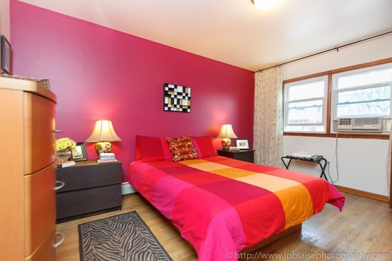 Interior Photographer Work: Bedroom of apartment in Union City, New Jersey