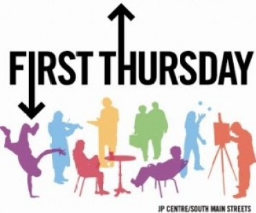 First Thursday Logo by JP Centre/South Main Streets