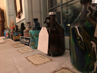 Growlers await the auction.