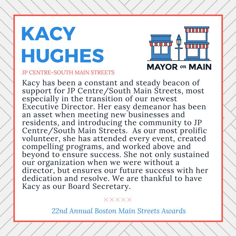 Volunteer of the Year Kacy Hughes