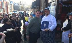 Mayor Walsh and Brad Brown