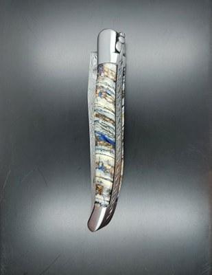 laguiole 12cm, lame Damas, molaire Mammouth
