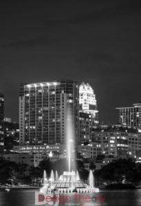 Lake Eola Fountain - Night photography-5