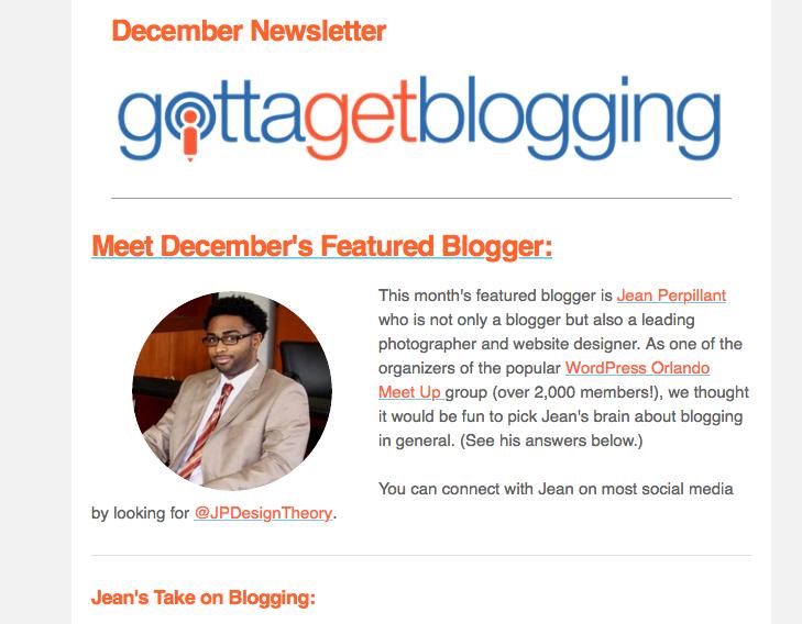 I Am Featured on Gotta Get Blogging!