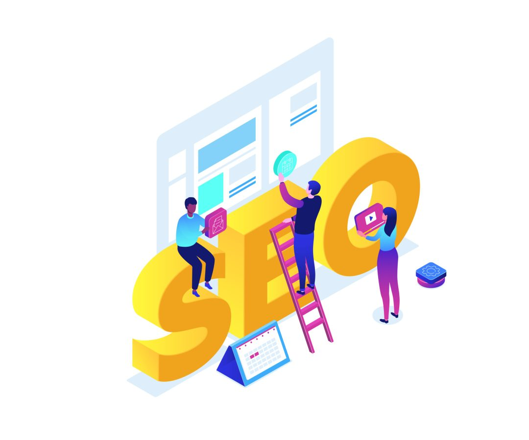 SEO building graphic