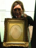 Moving on, the amount of iconic images in this museum was amazing! This famous sketch of Jane Austen was drawn by her sister Cassandra and is much smaller than I imagined. (My giant dome for comparison).