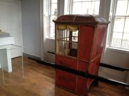 "Inside was also a sedan chair popular during the 18th century to cart your gout swollen ankles around town. The greeting ""Cheerio"" comes from hailing a chair - ""Chair Ho"""