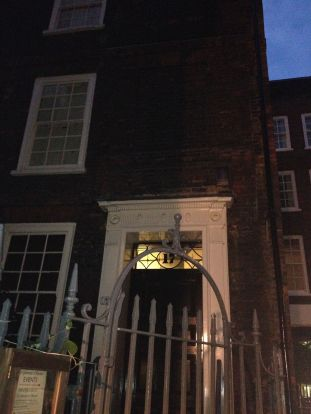 Around a small courtyard is Samuel Johnson's house! 18th century author of first English dictionary.