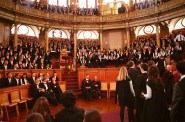 The theater is also used for graduation and matriculation ceremonies