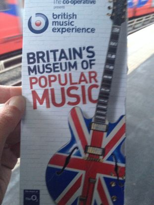 Art of a different kind. Sunday, my local tour guide, Aubrey, boated us up the Thames to the British Music Museum.