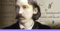 Robert Louis Stevenson: Author of Treasure Island, The Strange Case of Dr. Jekyll and Mr. Hyde, and Kidnapped. Cool pic with word back drop.