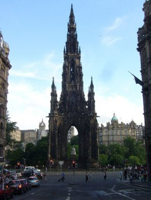 This Victorian Gothic monument dedicated to Scott towers over the center of town on Princes Street. The nearby train station is even named Edinburgh Waverly after his novel.