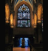 "The St. Giles Cathedral in town has an entire window in honor of him. On January 25 (his birthday) Scots celebrate Burn's night by reciting his songs and poems with some whisky and haggis (""chieftain o' the puddin' race"")"