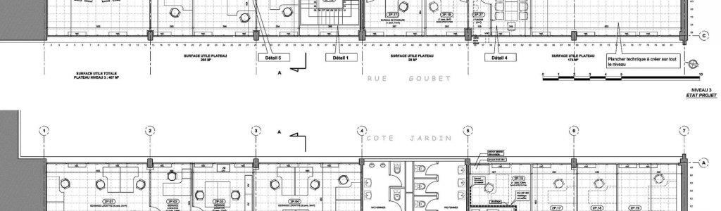 Plan des niveaux 2 et 3