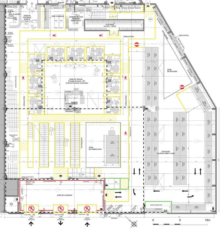 Bureaux et entrepôt à Roissy-en-France