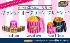≪スーパー サマーキャンペーン≫ ギャレット ポップコーンプレゼント!