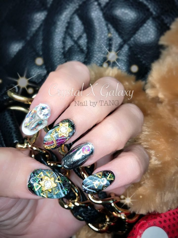 Crystal X Galaxy Nails by Nail by TANG