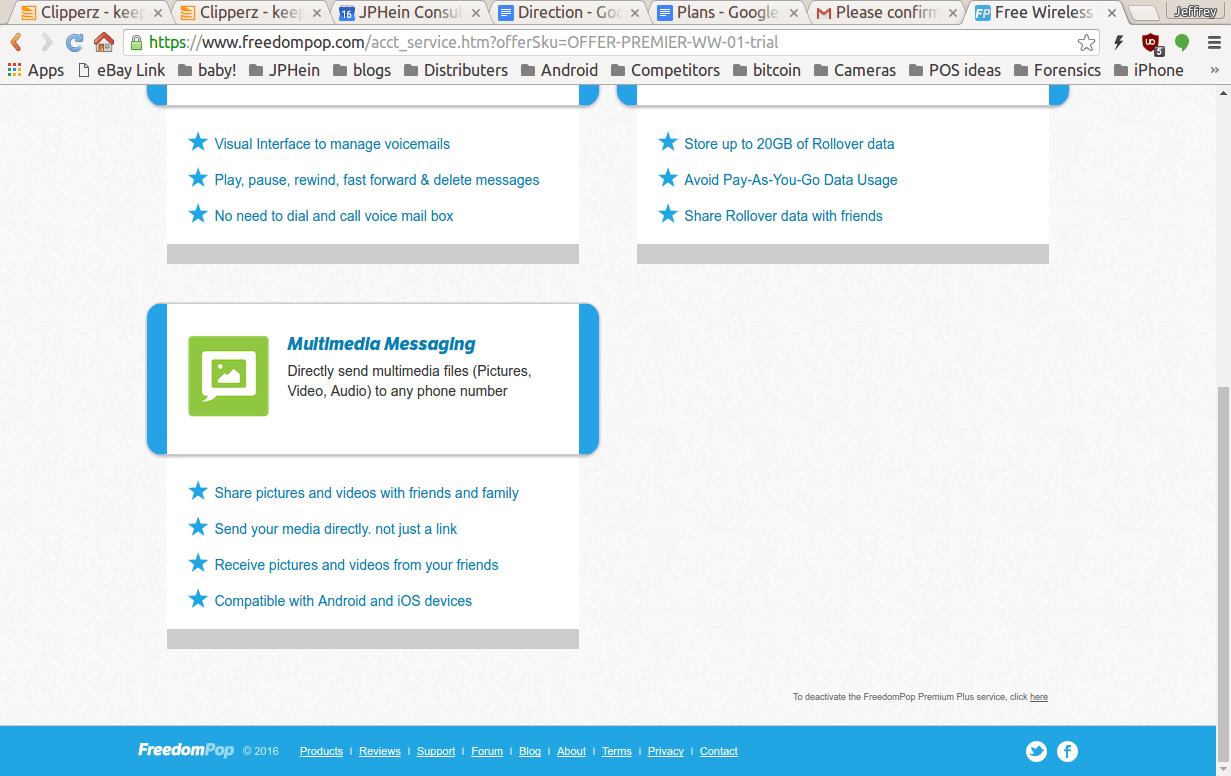 FREE cell phone service by Freedompop on the AT&T, Sprint
